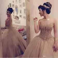 gold quince dresses luxury gold sweetheart neckline tulle gown princess