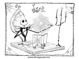 nightmare before christmas coloring page free printable nightmare