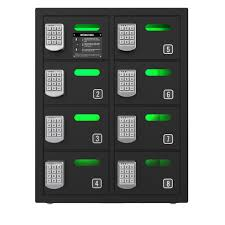 8 bay cell phone charging locker chargetech