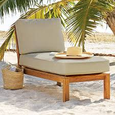 Teak Sectional Patio Furniture by Teak Sectional Lounger With Cushion Sam U0027s Club
