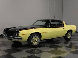 yellow chevy camaro for sale yellow 1975 chevrolet camaro rs for sale mcg marketplace