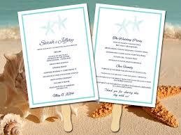 Diy Wedding Ceremony Program Fans Beach Wedding Program Fan Template Ceremony Program