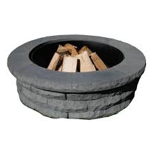 Decorative Cinder Blocks Home Depot Fire Pit Kits Hardscapes The Home Depot