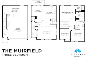 3 bedroom 2 bath 2 car garage floor plans highland village now leasing walnut capital