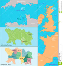 English Channel Map Jersey Map Stock Vector Image 52247794