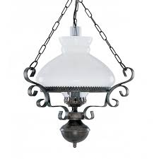Traditional Ceiling Light Fixtures Hanging Lantern Pendant Light Rustic With Opal Glass
