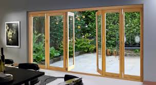 Exterior Door With Frame Bi Fold Glass Exterior Doors With Wooden Frame For Small Backyard