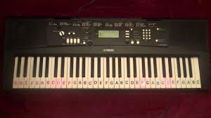 yamaha keyboard lighted keys abcdefg notes on keys yamaha ez 220 light up keyboard musical notes