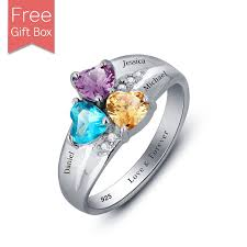 mothers rings with birthstones personalized ring with birthstones rsnamenecklace