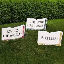 good words yard sign for christmas outdoor nativity store