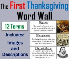the thanksgiving word wall cards by science spot tpt