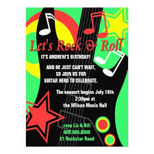 415 best rock star birthday party invitations images on pinterest