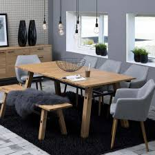Modernes Esszimmer Eiche Massiv Esstisch Stavanger Eiche Furnier 210cm Optional Verlängerbar