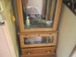 Glass Gun Cabinet Gun Cabinet W Deer Etched Glass In Columbus Ohio Gun Classifieds