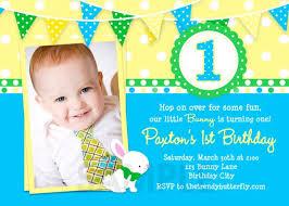 popular invitation card for 1st birthday boy 42 in slogans for
