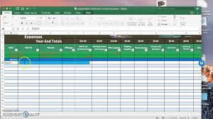 Schedule C Expenses Spreadsheet Contractor Income Expense Spreadsheet Youtube
