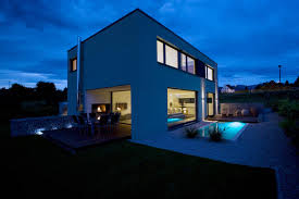 Outdoor House Modern Single Family Home Reinforced Concrete Slabs Construction