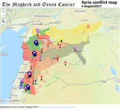Syria Situation Map by Cc News Cizirecanton Twitter