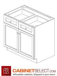 36 inch kitchen base cabinets with drawers kw b36b k white 36 2 drawer 2 door base cabinet
