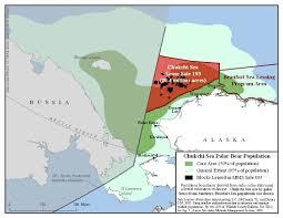Map Of Beaufort Sc Bear Habitats And Chukchi Sea Oil Leases