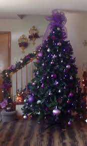 purple christmas tree christmas tree purple and silver in decorations design 9