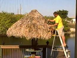 How To Build A Tiki Hut Roof How To Destroy A Tiki Hut For 150 00 Plus Labor Youtube