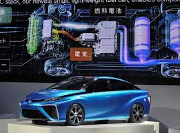 toyota car company toyota shows off fuel cell automobile the new york times