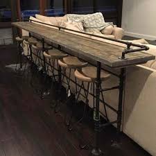 Decorating A Sofa Table Behind A Couch Best 25 Bar Behind Couch Ideas On Pinterest Table Sofa With Stools