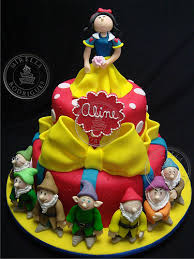 bolo decorado branca de neve e os sete anões snow white