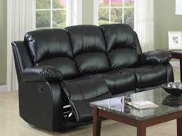 Black Leather Sofa Recliner Impressive Black Leather Reclining Sofa Leather Reclining Sofa