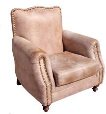 Rustic Leather Armchair Lounge Chairs Abqresale