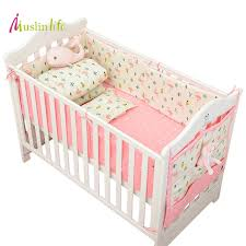 Nursery Bed Set Muslinlife Infant Crib Bumper Bed Protector Baby Cotton