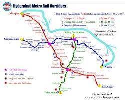 Metrorail Map Raghu U0027s Column The Hyderabad Metro Rail Has Finally Arrived