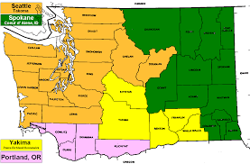 County Map Washington State by Marketology Tv Markets And Party Primaries
