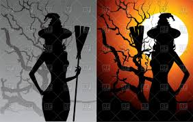 silhouette of halloween witch vector image 58175 u2013 rfclipart