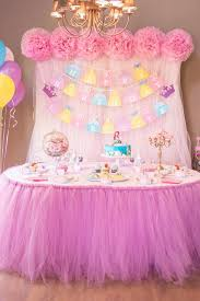 princess birthday party dessert table at a disney princess birthday party see more party
