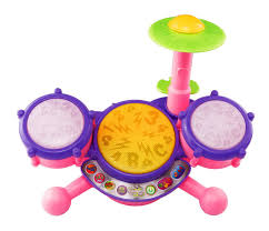 amazon com vtech kidibeats drum set pink online exclusive