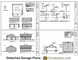 22x22 2 Car 2 Door Detached Garage Plans by Sample Sheets From Our 20x20 2 Car 1 Door Garage Plans Garage