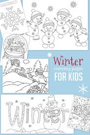 winter coloring pages kids fun age kids