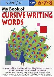 Barnes And Noble Publishing My Book Of Cursive Writing Words Kumon Series By Kumon