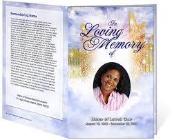 funeral phlet ideas best photos of black funeral obituary cover exles sle
