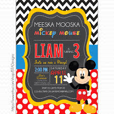 bta designs mickey mouse inspired birthday invitations free