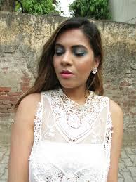 angelic makeup aqua blue eyes indian beauty diary