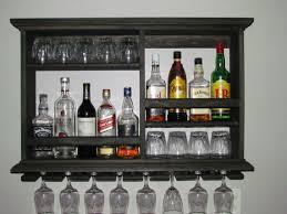 Black Liquor Cabinet Mini Bar Black Stain Wine Rack Liquor Cabinet By Dogwoodshop For