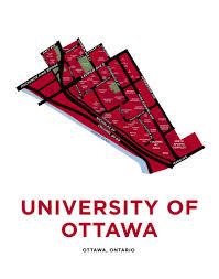 Map Of Ottawa University Of Ottawa Map Print U2013 Jelly Brothers