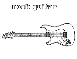 large guitar coloring page large guitar coloring page rock star pages colouring barbie