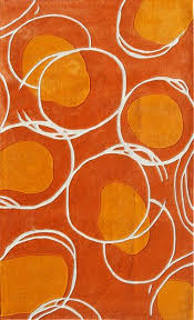 Orange Modern Rug Orange Accent Rug Cievi Home