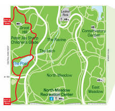 map central maps central park conservancy creates nyc fall foliage map