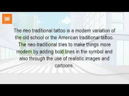 what is a neo traditional tattoo youtube