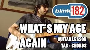 Wildfire Chords Easy by Blink 182 What U0027s My Age Again Guitar Lesson With Tab And